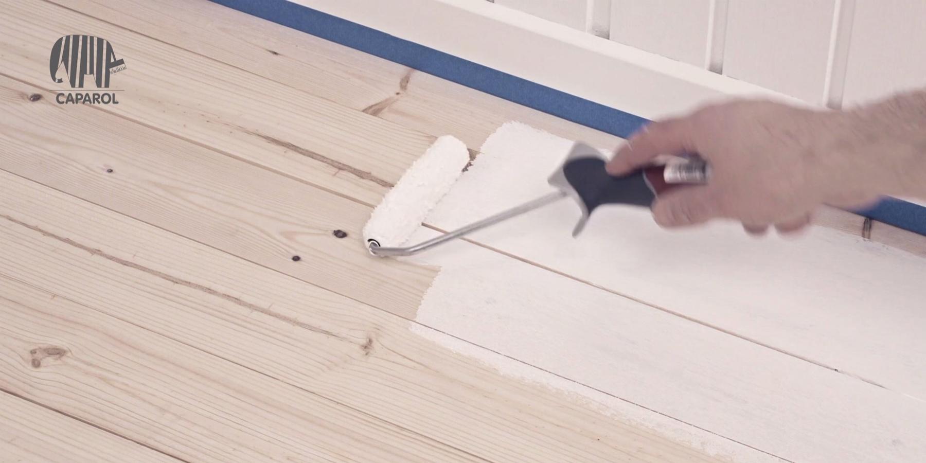 Välj rätt målarfärg när du ska måla trägolv - Caparol : obehandlat furugolv : Inredning