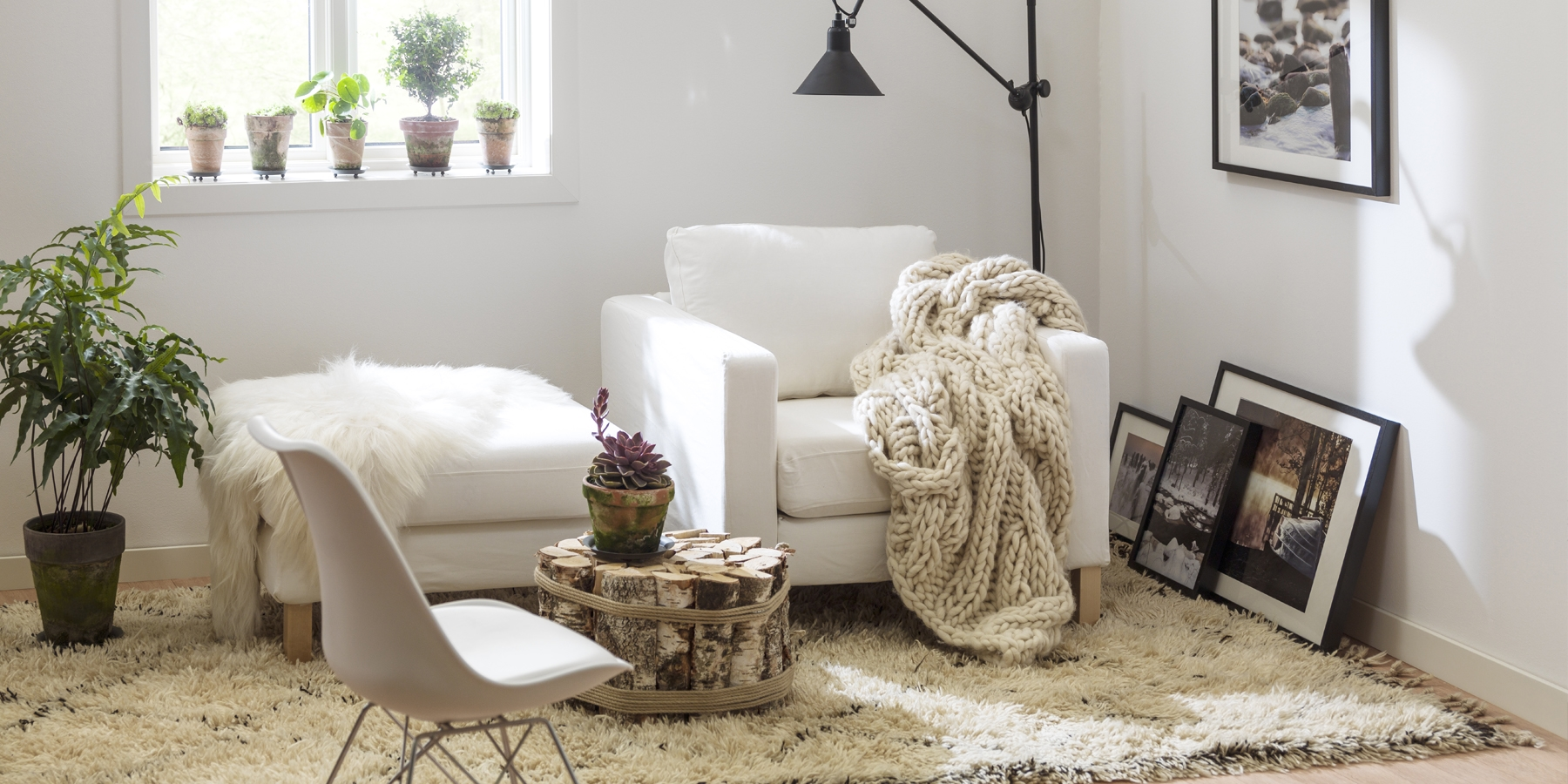 Rum med normalt slitage text sovrum & vardagsrum
