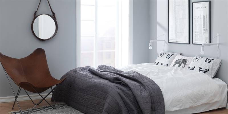Inspiration sovrum måla i sovrummet Caparol Färg