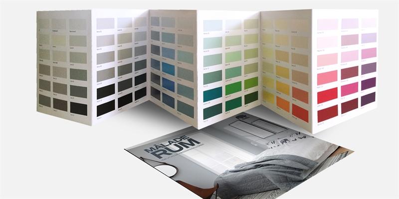 Färgkarta Målade Rum För Färgsättning Inomhus